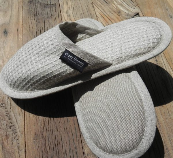 badlinnen slippers sedan naturel