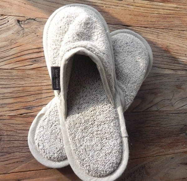 badlinnen slippers naturel