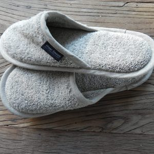 badlinnen slippers zwart