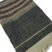 linnen doek fouta black stripe