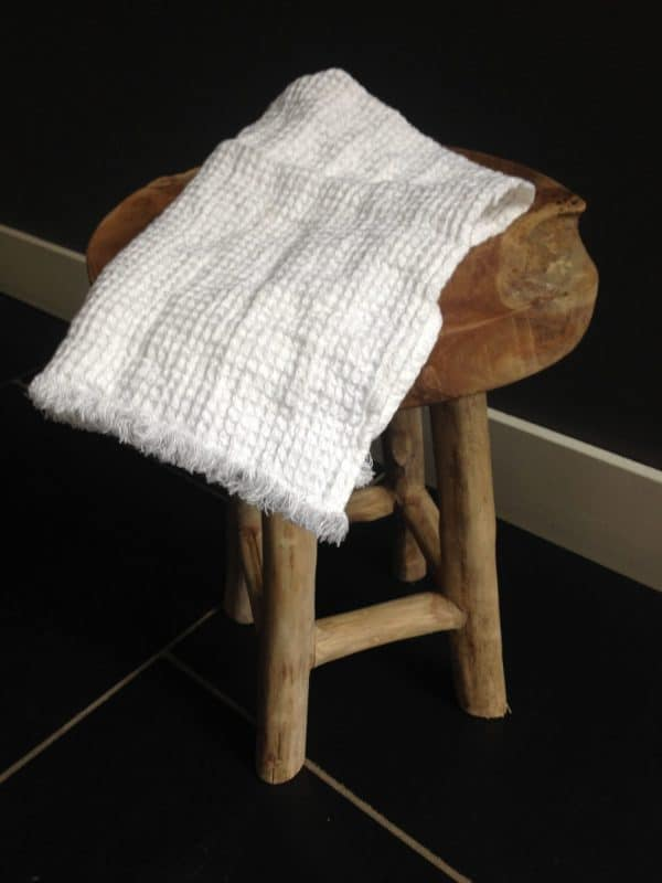 linnen handdoek grasse wit